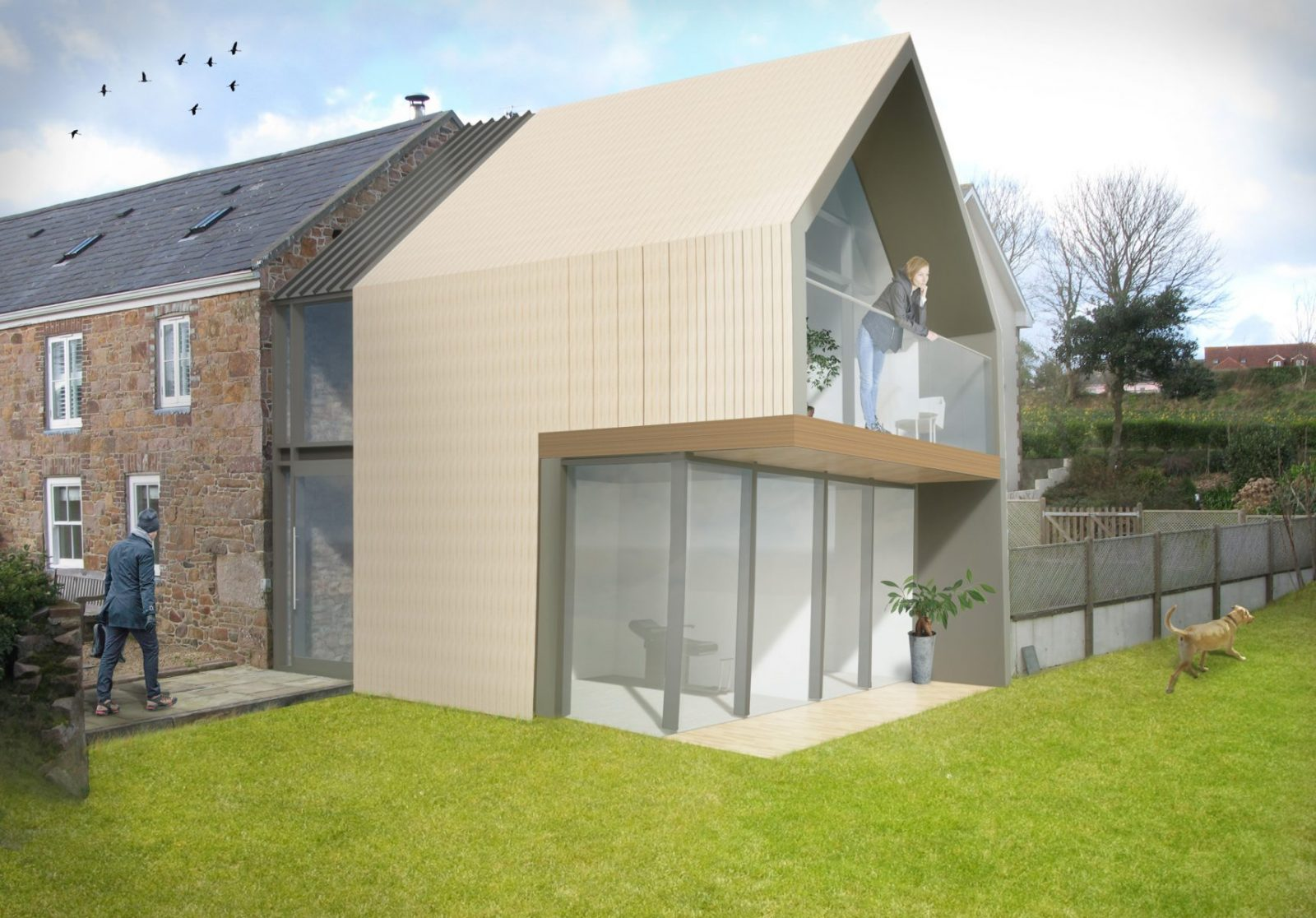 Jersey farm house listed modern extension architecture architects jersey architects1