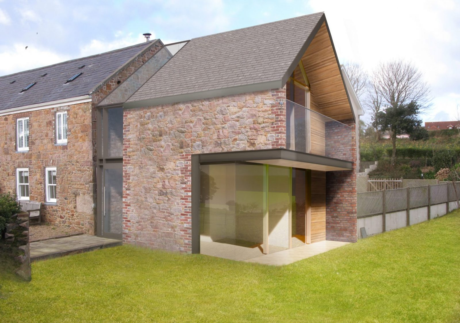 Jersey farm house listed modern extension architecture architects jersey architects2