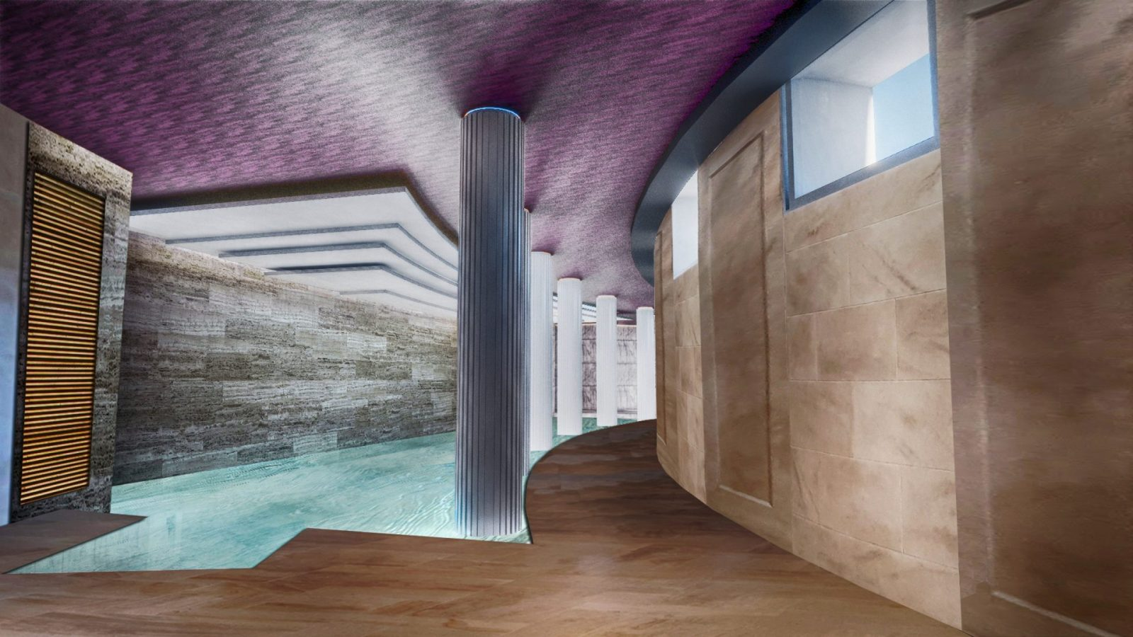 OSP modern basement swimming pool architecture architects jersey architects2