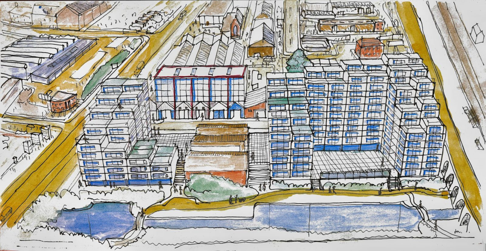 modern apartments masterplan water witch liverpool architects jersey2