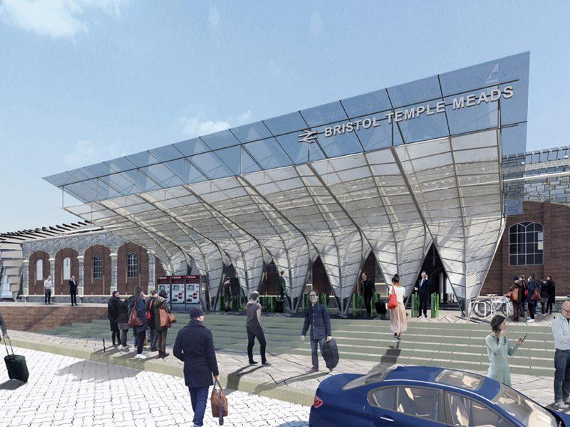 FT bristol temple meads regeneration london platform entrance canopy architects jersey architects12