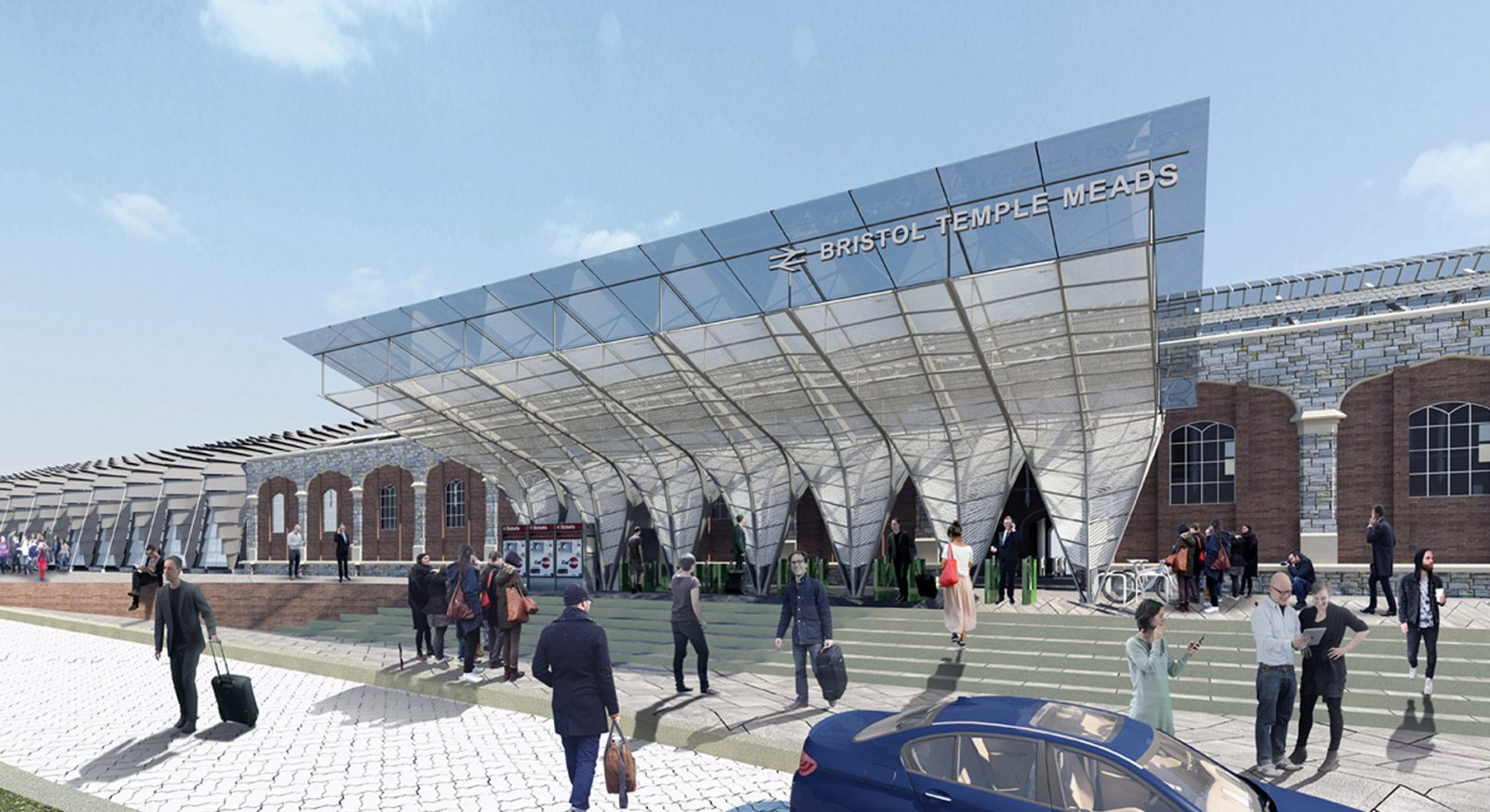 FT bristol temple meads regeneration london platform entrance canopy architects jersey architects12