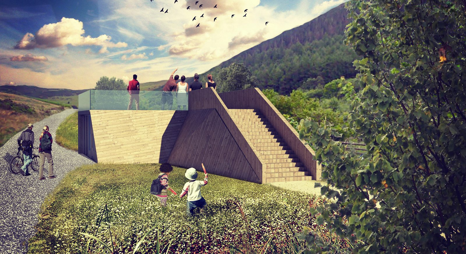 FT gilfach nature reserve visitor centre wales architects jersey11