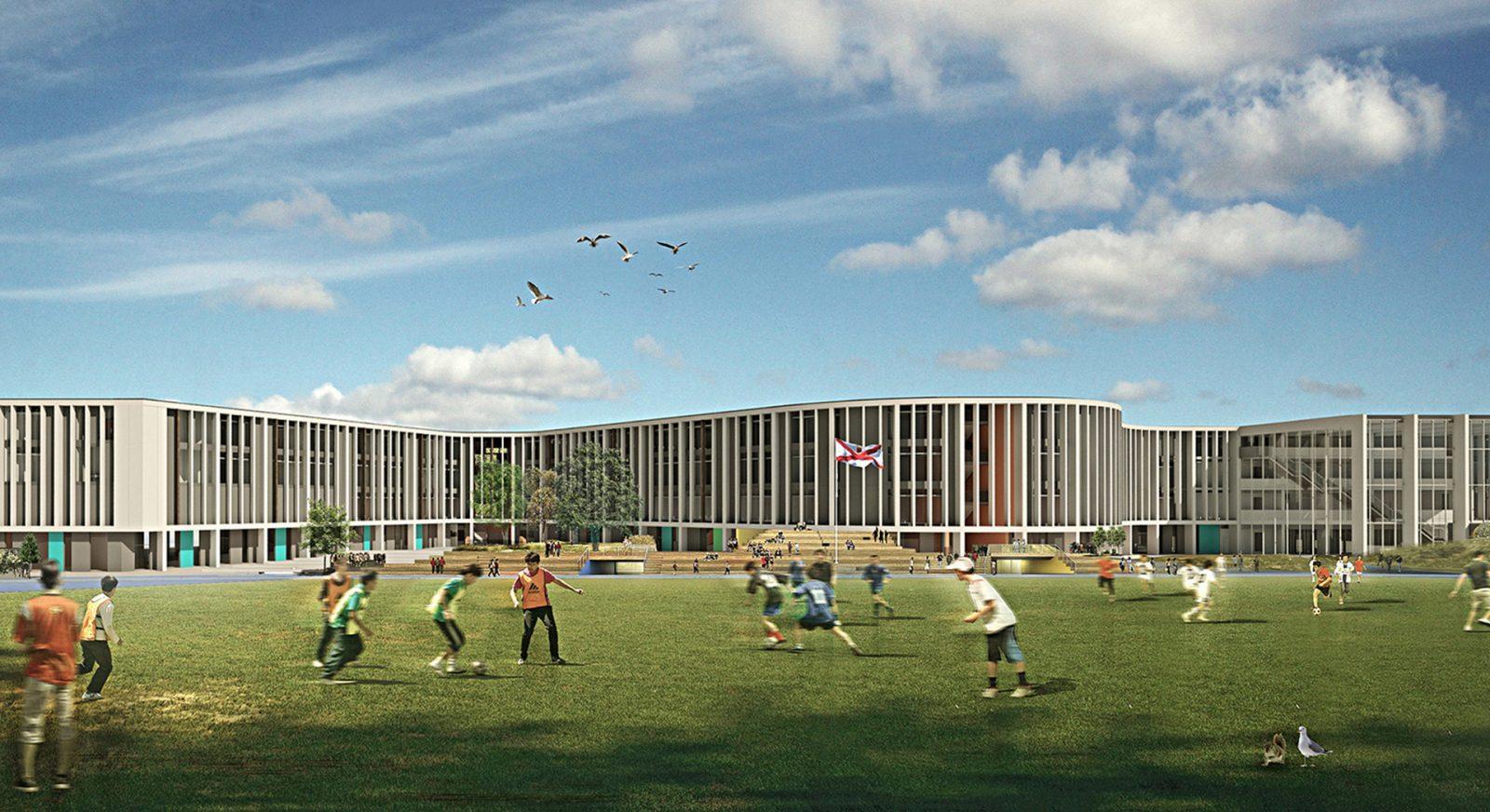 FT les quennavais school modern architecture st brelade jersey architecture14