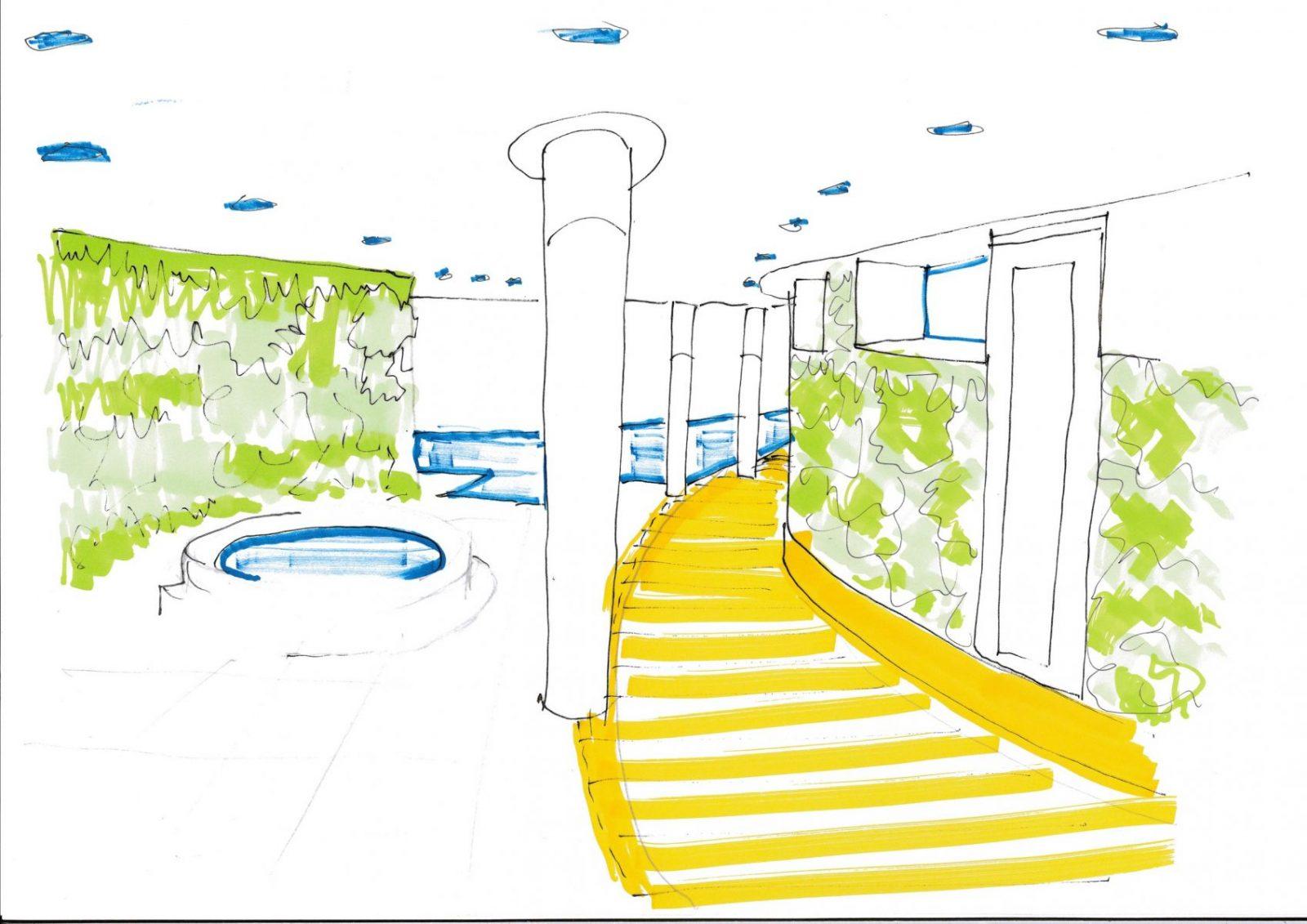 OSP modern basement swimming pool architecture architects jersey architects3