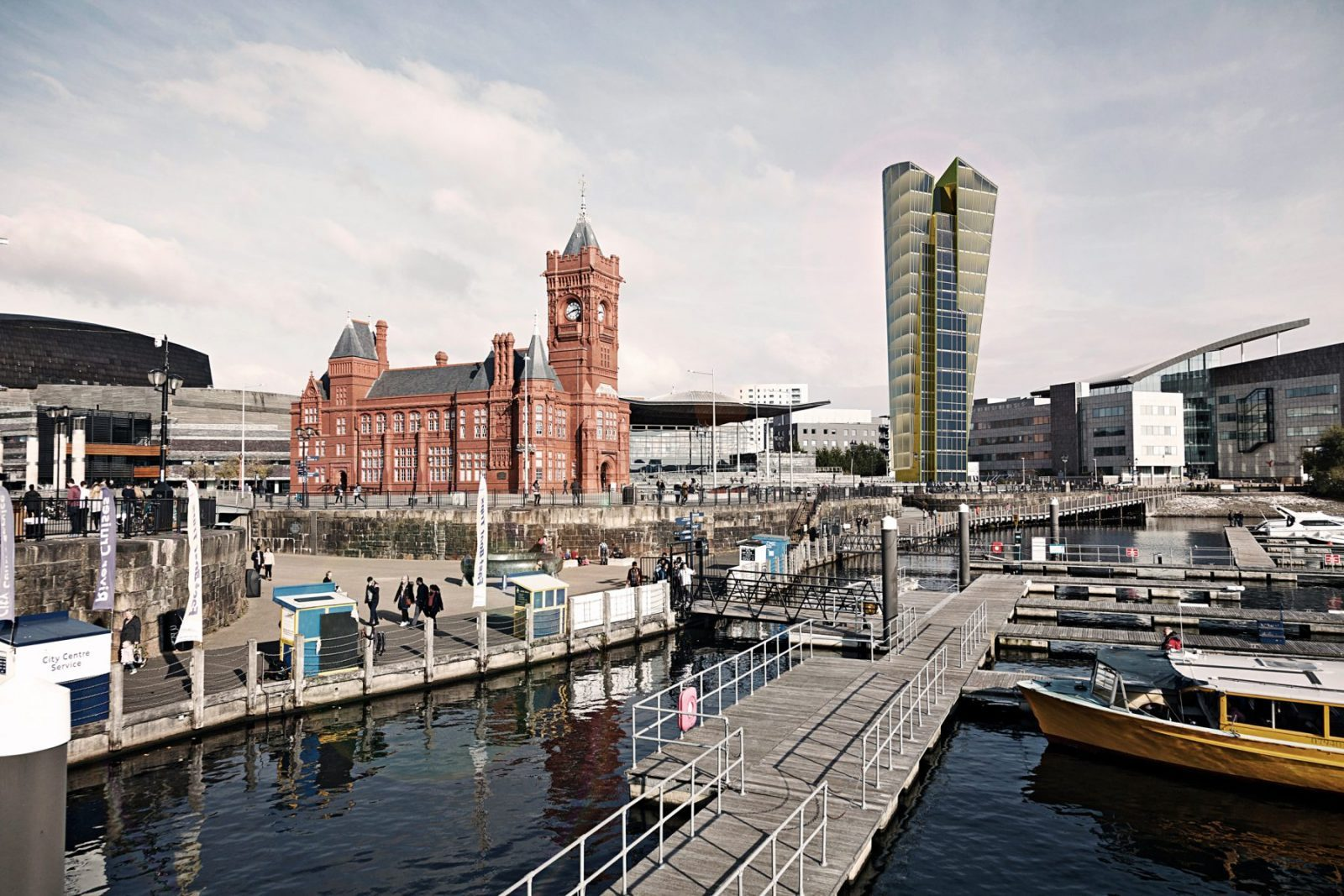 cardiff bay tower offices architects jersey architecture1