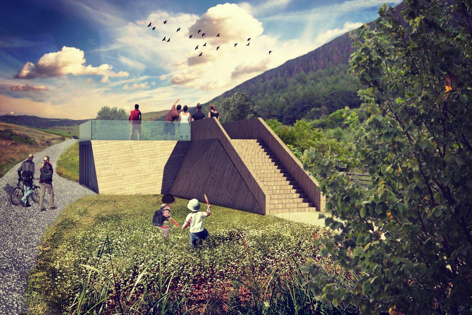 gilfach nature reserve visitor centre wales architects jersey1