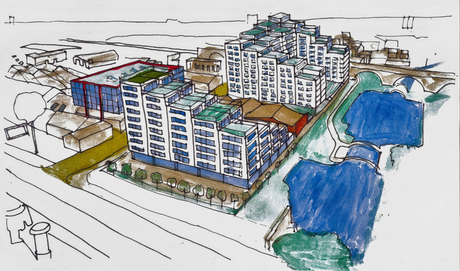 modern apartments masterplan water witch liverpool architects jersey3