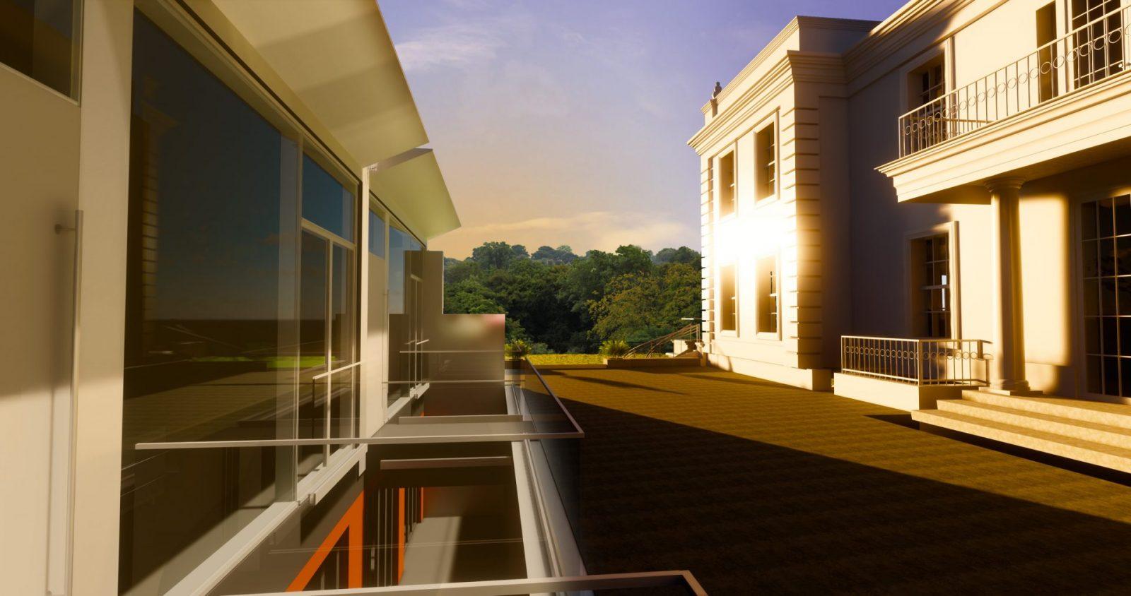 staff accommodation architecture georgian mansion architects jersey 1